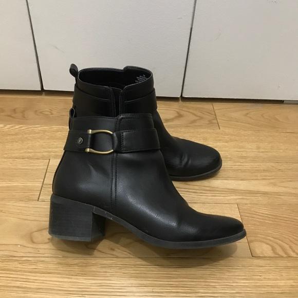 93e67cf8211b Anne Klein Jeannie Leather Ankle Booties. Anne Klein.  M 5bc9d0f0a5d7c6f50eaf5e0a. M 5bc9d0f1aaa5b860352785c0.  M 5bc9d0f3baebf6e7448c7f41